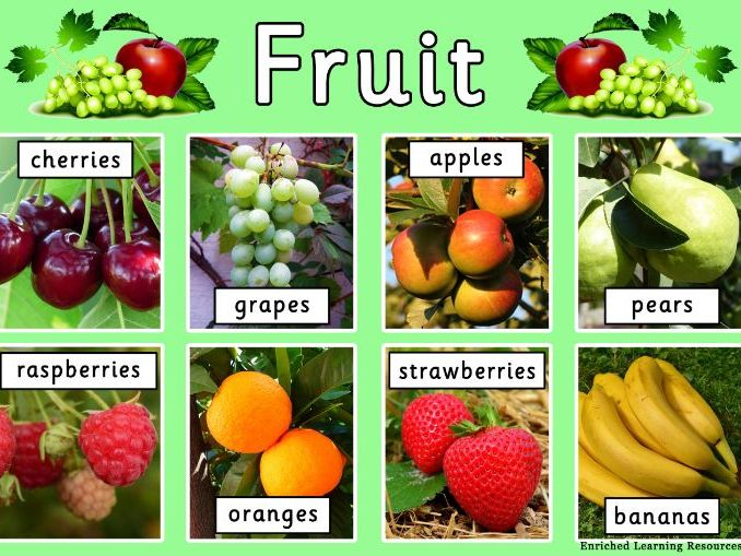 FRUIT - A4 POSTER WITH TEXT