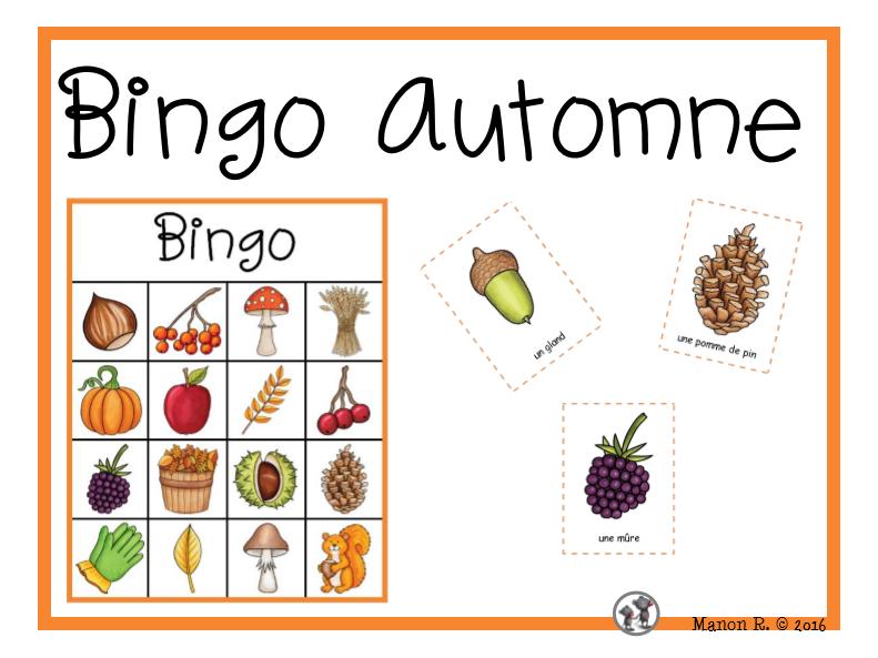 Bingo d'automne  (Fall Bingo)