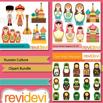 Russian culture clip art bundle (3 packs)