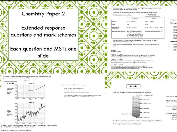 AQA Trilogy Chemistry Paper 2 Extended Response Questions