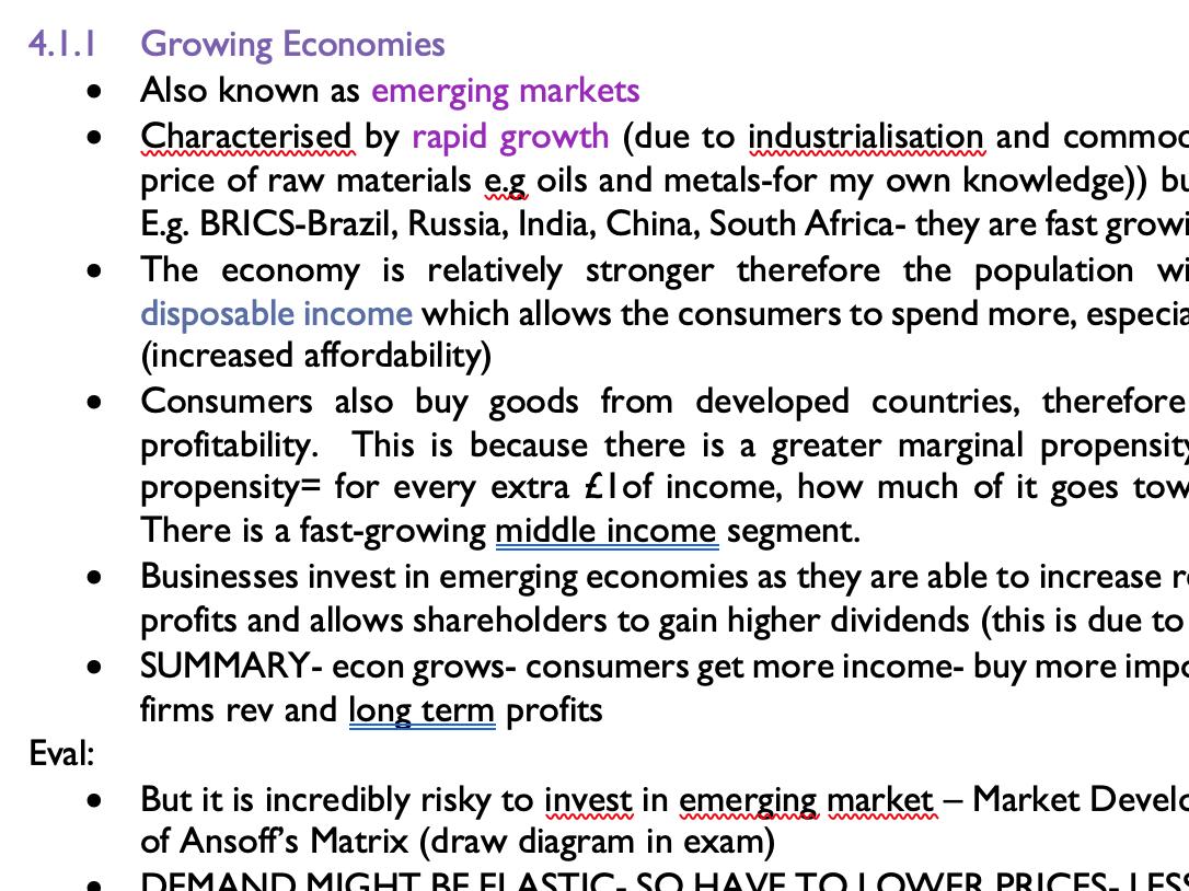 EDEXCEL BUSINESS FULL NOTES