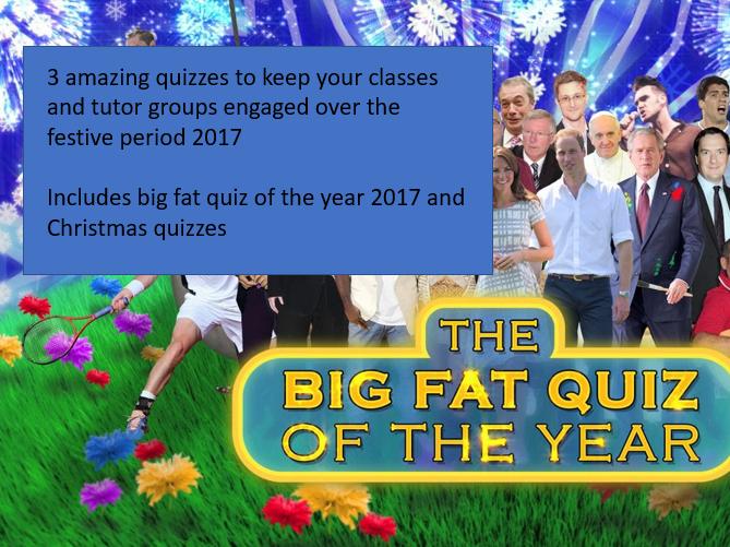 2017 Christmas Quiz Bundle - 3 Quizzes SAVE £4