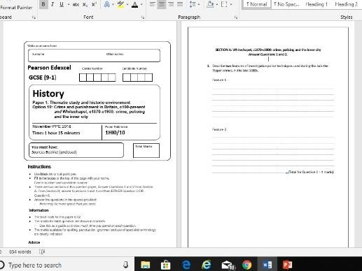 Edexcel Paper 1 Crime and Punishment PPE assessment - you can easily edit this word doc