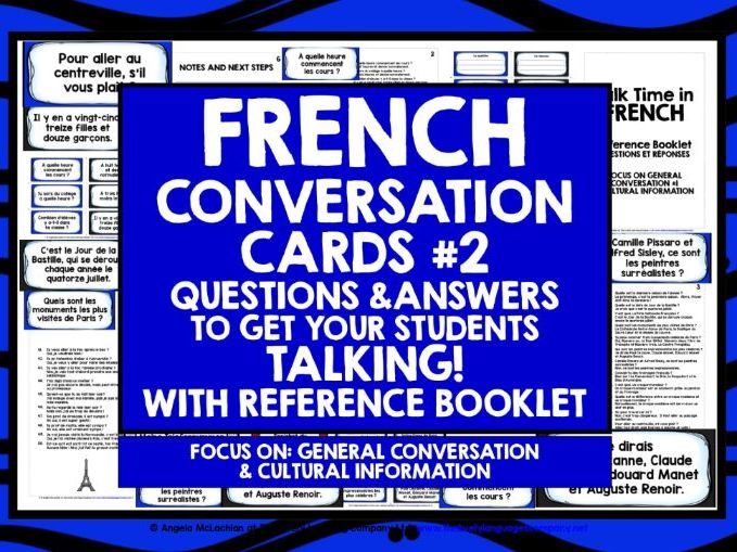 FRENCH SPEAKING CARDS #2