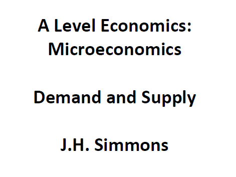 Microeconomics: Demand and Supply