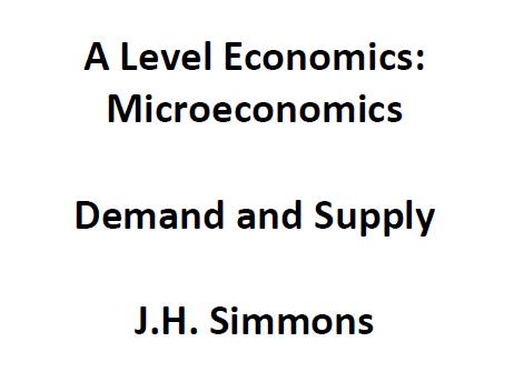 Microeconomics: Demand and Supply