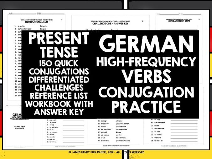 GERMAN HIGH-FREQUENCY VERBS CONJUGATION #1