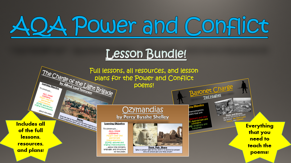 AQA Power and Conflict Poems Lesson Bundle!