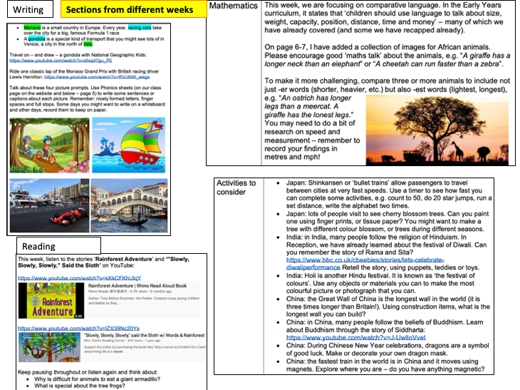 Geography EYFS 'All Around The World' full topic planning