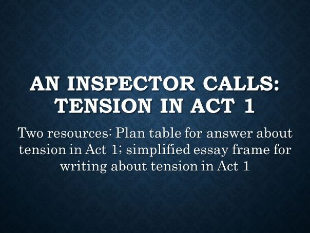 An Inspector Calls: Tension in Act 1