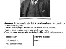 Titanic Biography Language Activity