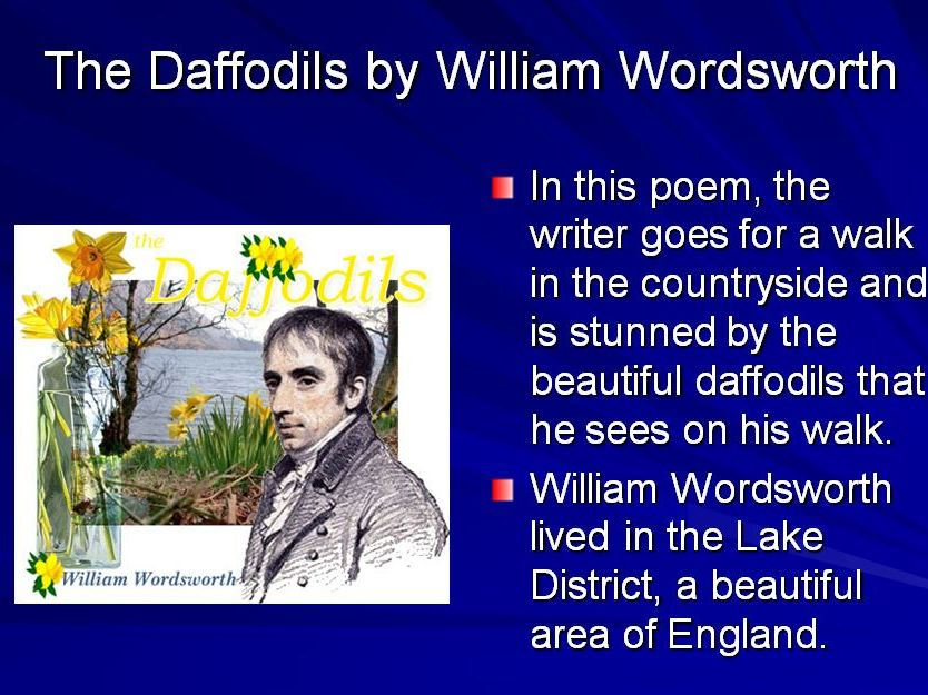 Daffodils and Personification