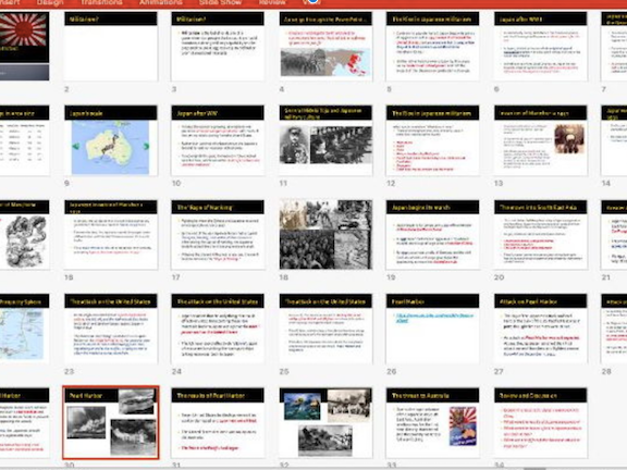 World War Two Syllabus Point Activities