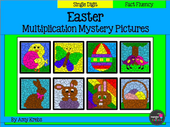 Easter Multiplication Mystery Pictures