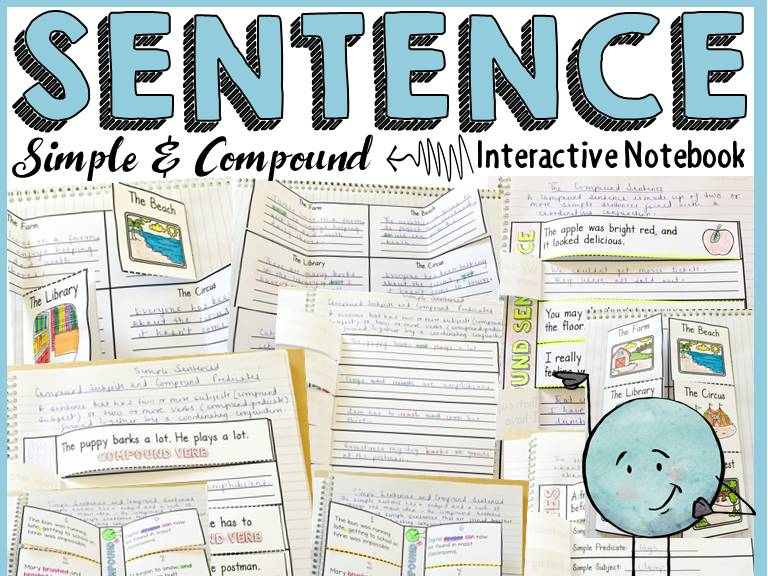SIMPLE SENTENCE: COMPOUND SENTENCE: INTERACTIVE NOTEBOOK: POSTERS