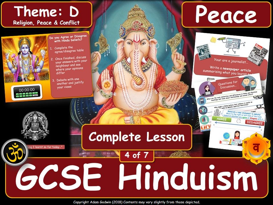 Pacifism - Comparing Hindu & Christian Views (GCSE Hinduism - Peace & Conflict) Peace - L4/7