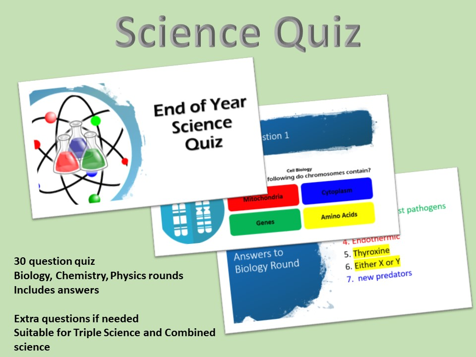 End of Year KS4 Science Quiz