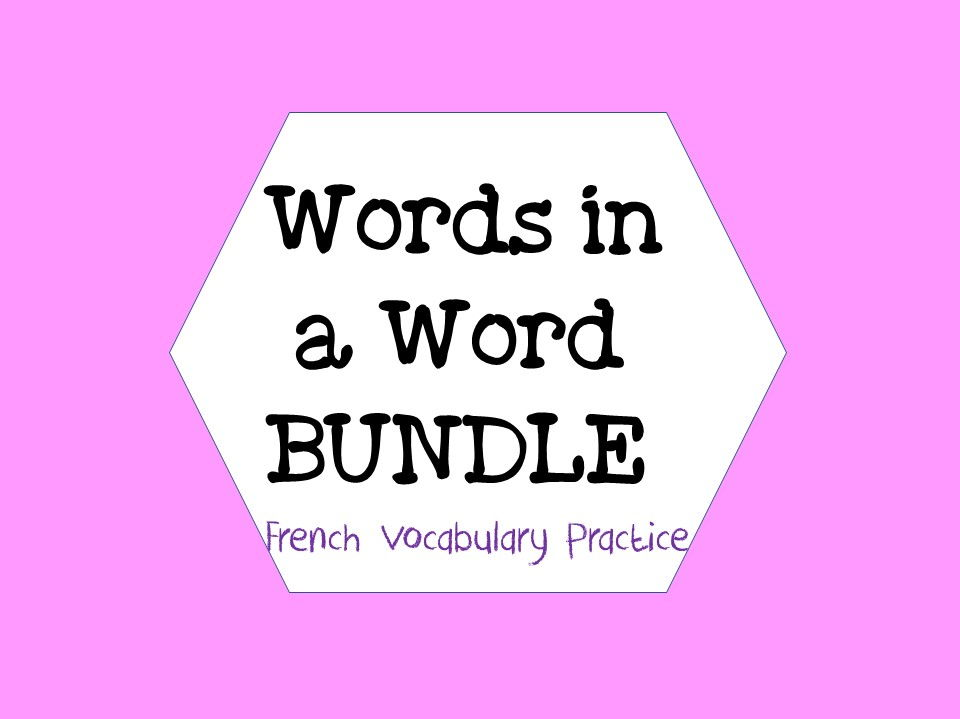 WORDS IN A WORD BUNDLE