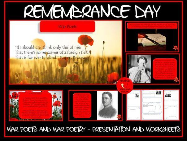 Remembrance Day: War Poets and Poems