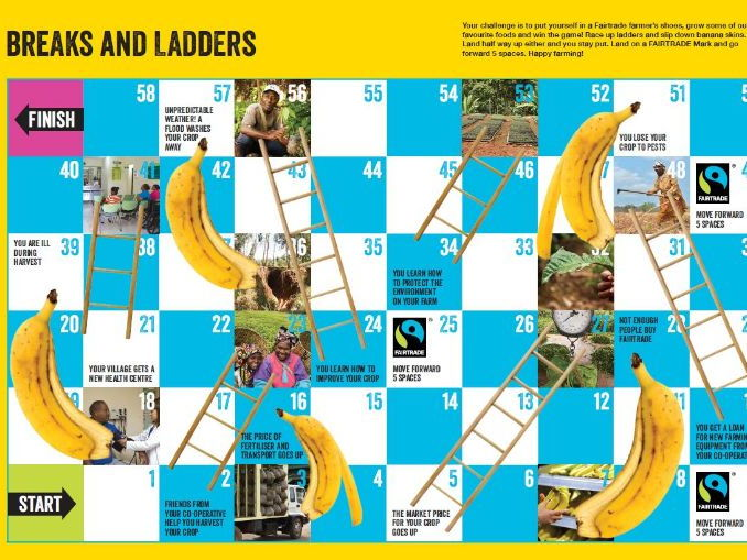 Fairtrade 'Breaks & Ladders' game