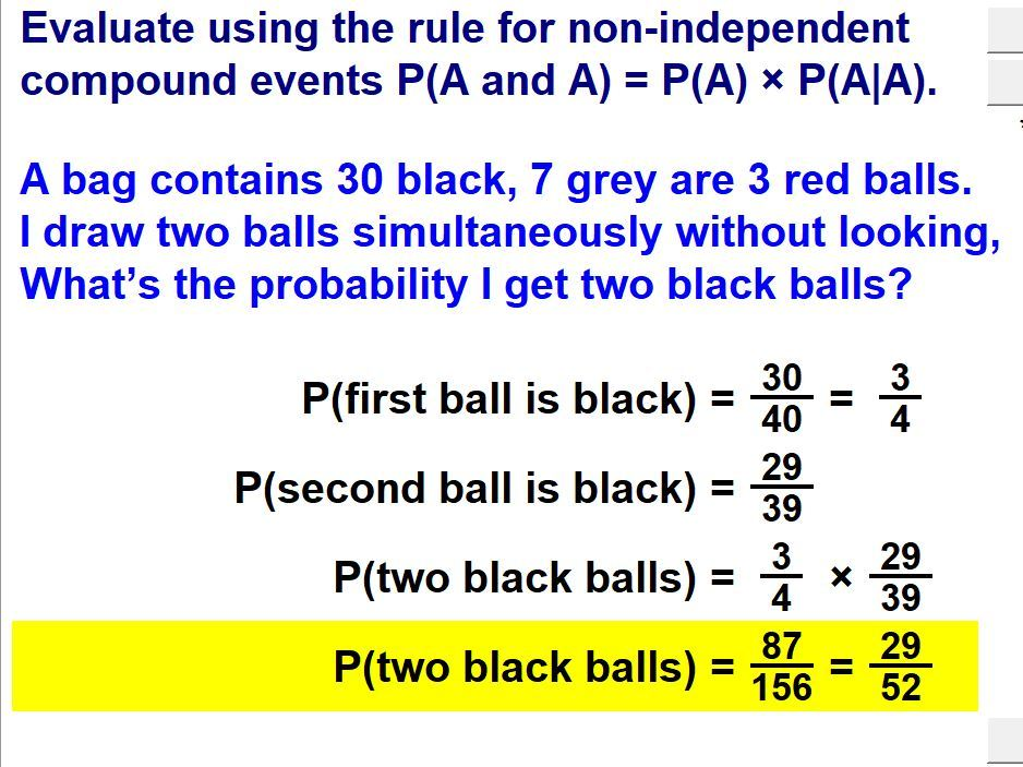 Rules of Probability & Compound Events