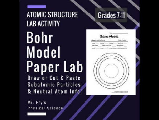 Bohr Model Paper Lab