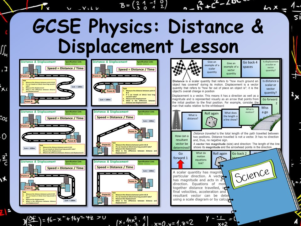 KS4 AQA GCSE Physics (Science) Distance & Displacement Lesson