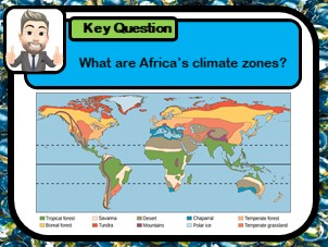 Investigating Africa's ecology, African climate zones,  Using climate graphs,