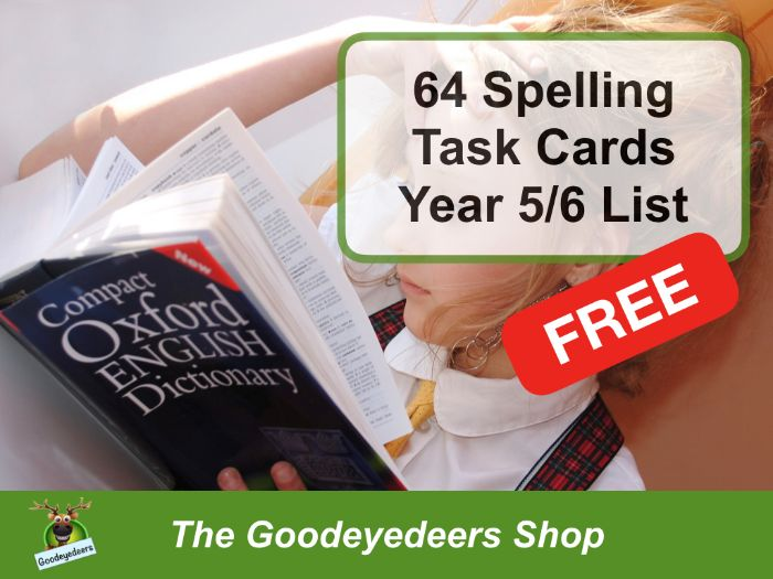 Spellings Task Cards