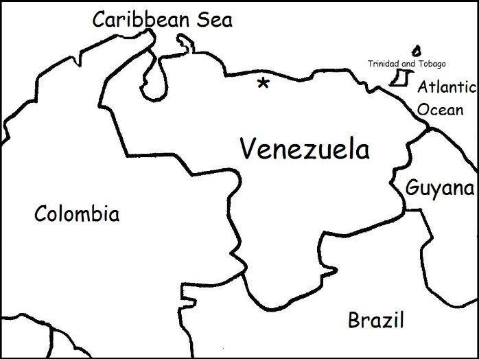 VENEZUELA - Printable handout with map to color