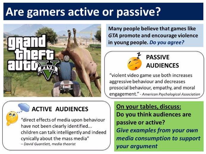 9-1 GCSE Media Studies Key Concepts lesson 2: Active and Passive Audiences