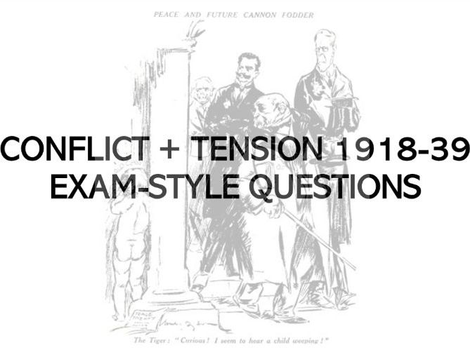 Conflict and Tension 1918-39 - Practice Exam Questions Bank - AQA GCSE History