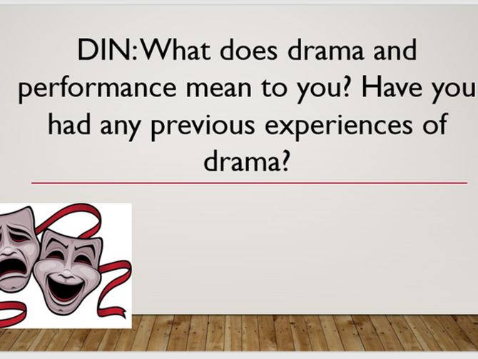 KS3 Introduction to Drama and Dramatic Techniques 6 lesson scheme
