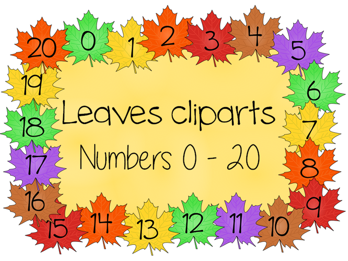 Numbers, days of the week and weather cliparts
