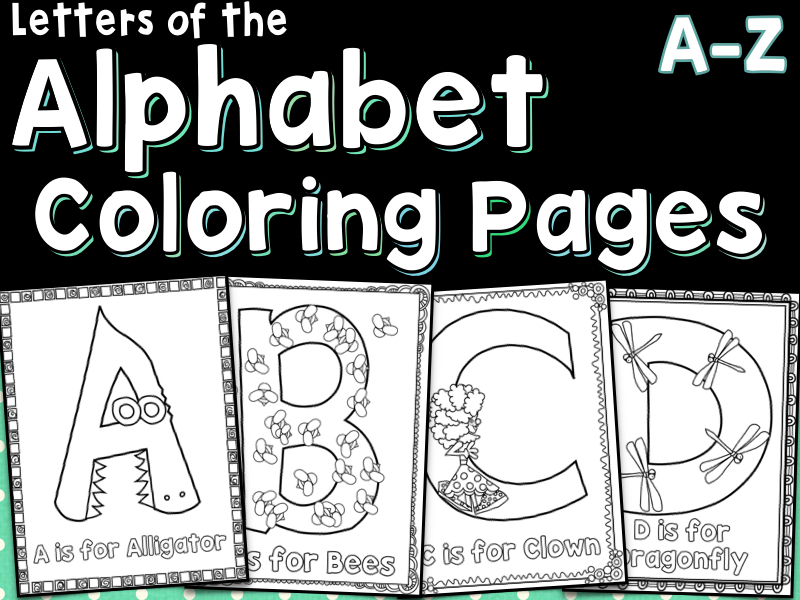 Letters Of The Alphabet Coloring Pages A-Z