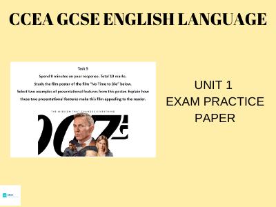 CCEA GCSE English Language Unit 1