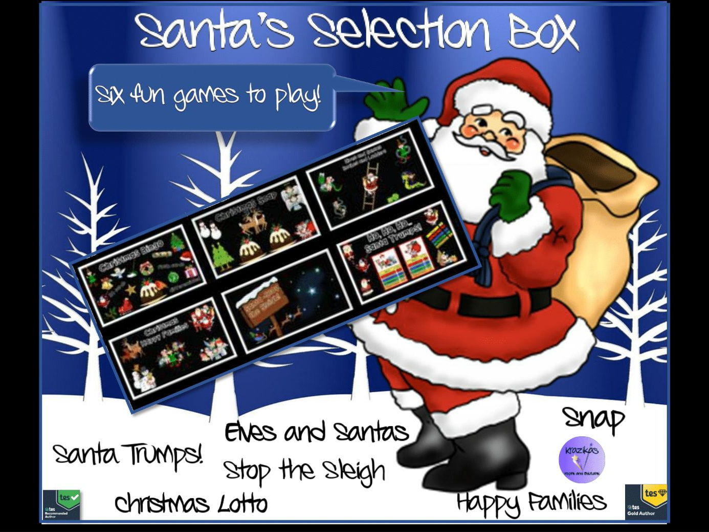 Santa's Selection Box of Six Fun Christmas-Themed Games