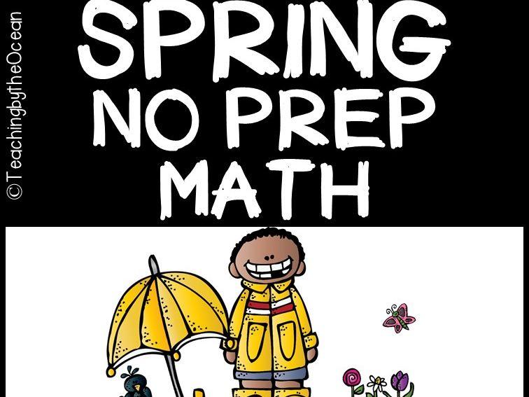 Spring Math NO PREP (kindergarten)