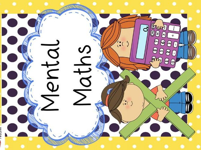 Year 5 & 6 Mental Maths Activity Pack
