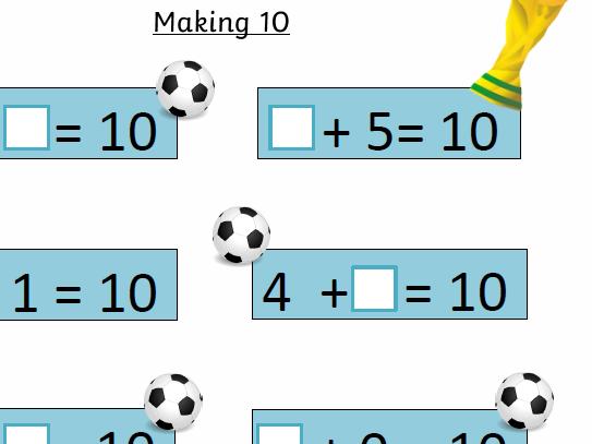 Number Bonds to 10 practice