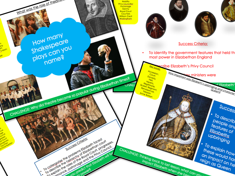 Elizabethan England Part 1 and 2