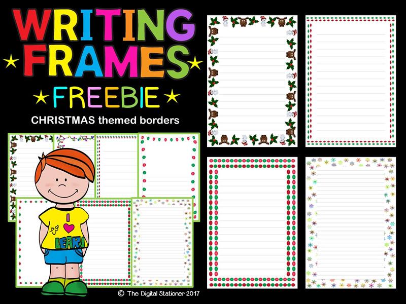 image relating to Printable Page Borders known as Xmas Winter season Composing Frames, Web site Borders FREEBIE - 35 printables