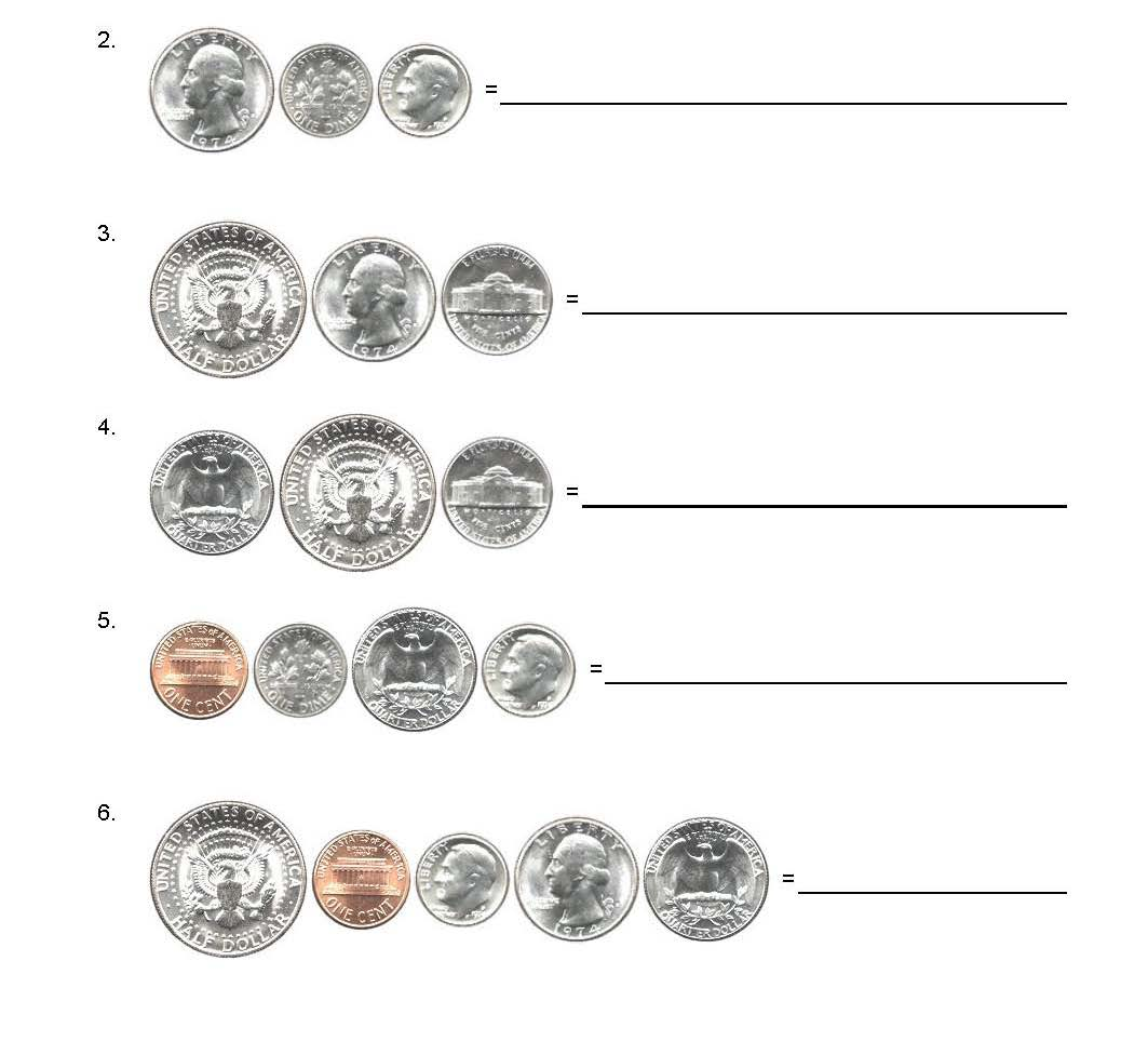 Bundle Coins Worksheets 15000 Australian 50000 American Coins