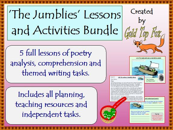 The Jumblies lessons and activity bundle