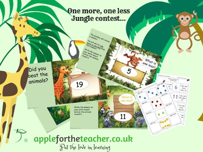 One More One Less Powerpoint Jungle Contest and other activities EYFS SEN KS1