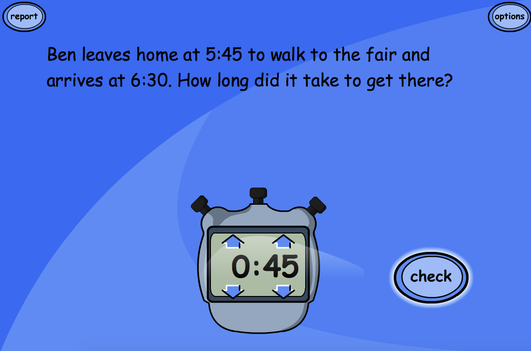 Time Problem Questions: Level 2 - Interactive Activity - KS1/KS2 Measurement