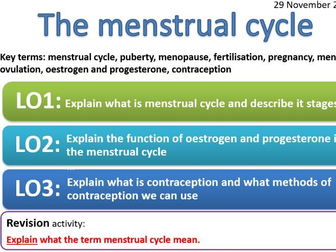 EDEXCEL CB7c The menstrual cycle