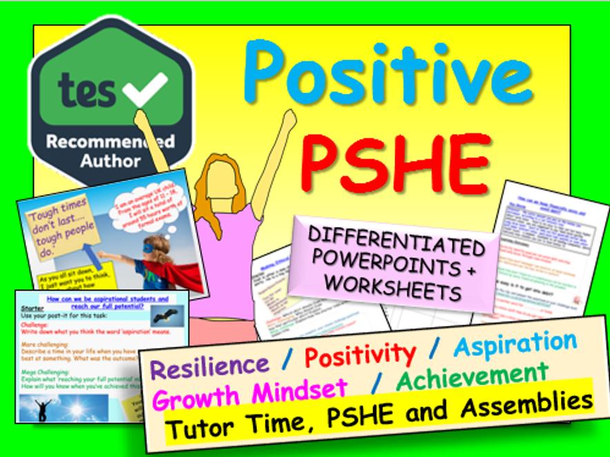 Tutor Time PSHE (aspiration, resilience, growth mindset)