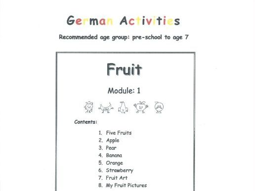 Fruit - GERMAN (Module 1)