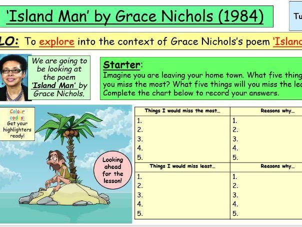 'Island Man' by Grace Nichols